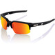 100% Speedcoupe Glasses soft tact black | hd red multilayer/hiper lense